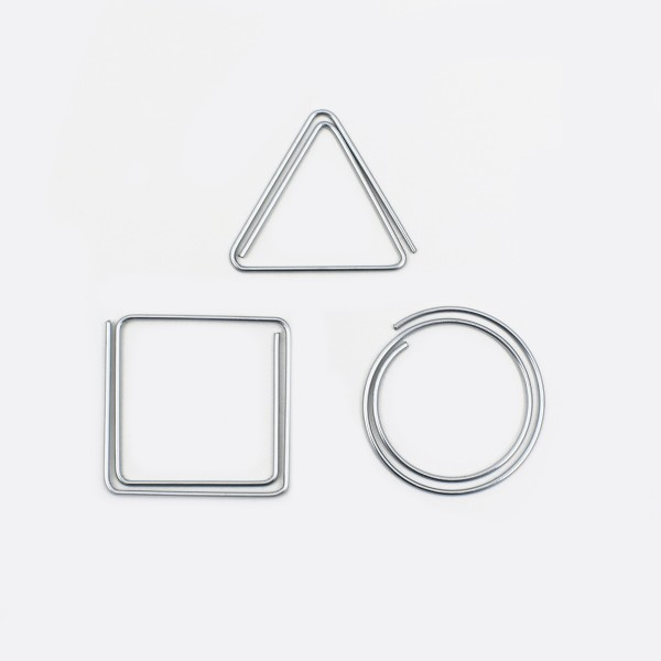 Paper Clips Set of 3 Silver