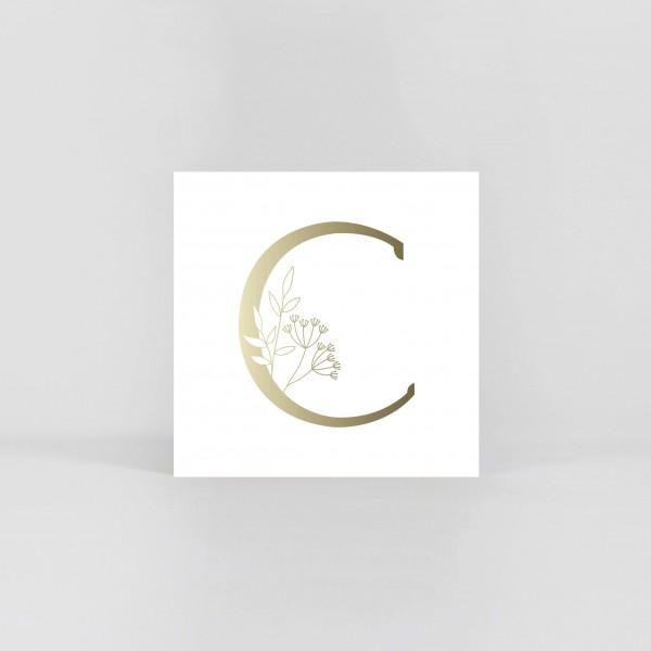 """JO & JUDY – Letter Postcard """"C"""""""