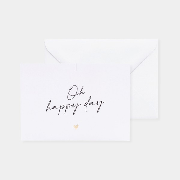"Postcard ""Oh happy day"""