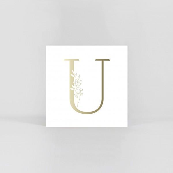 """JO & JUDY – Letter Postcard """"U"""""""