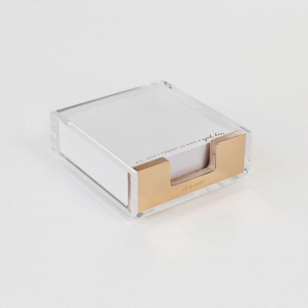 JO & JUDY – Memo Box Gold – Acryl & Gold
