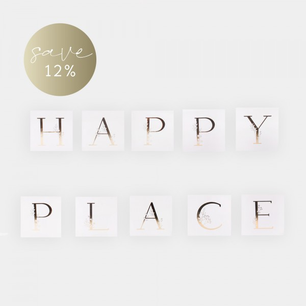 "Set Letter Cards ""HAPPY PLACE"""