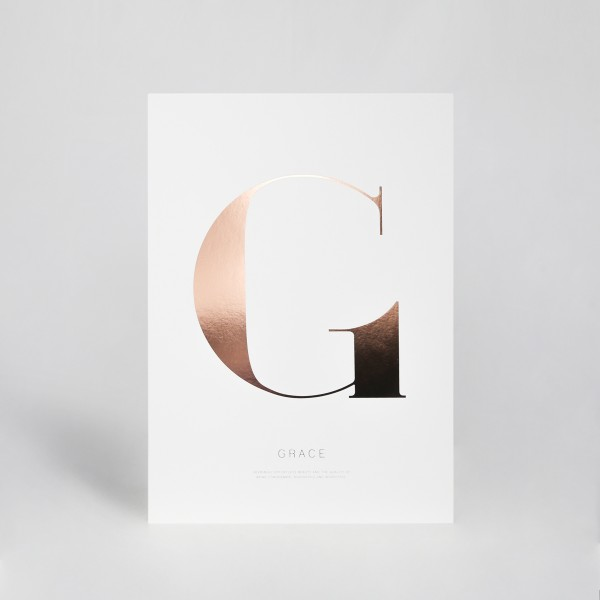 "JO & JUDY - Letter Print ""G"" - Rose Gold"
