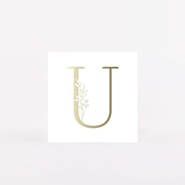 "Letter Postcard ""U"""