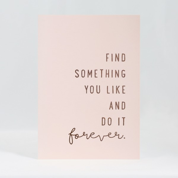 JO & JUDY - Print A4 Light Pink - Do it Forever - Front