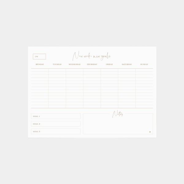 "Notepad A4 ""Weekly Planner"""