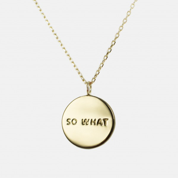 So What Necklace Gold