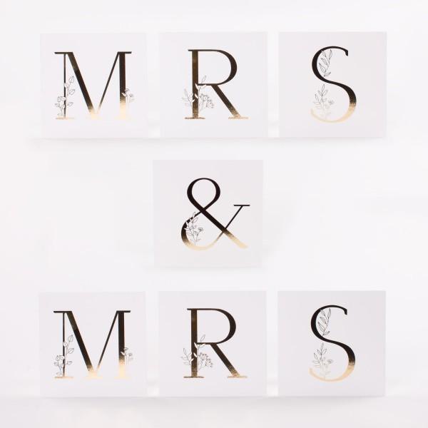 """Letter Postcards Set """"Mrs & Mrs"""""""