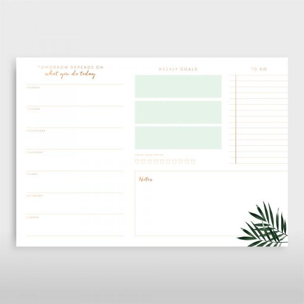 JO & JUDY – Writing Pad Green – Schreibtischunterlage Grün