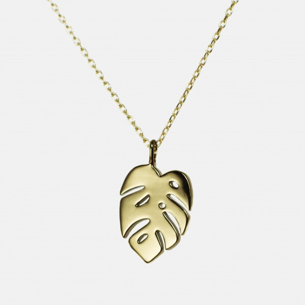 "Necklace ""Monstera"" Gold"