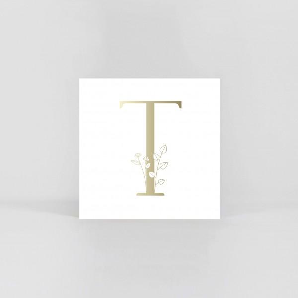 """JO & JUDY –Letter Postcard """"T"""""""
