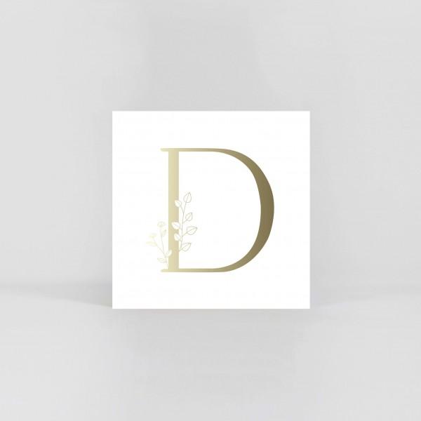 """Letter Postcard """"D"""""""