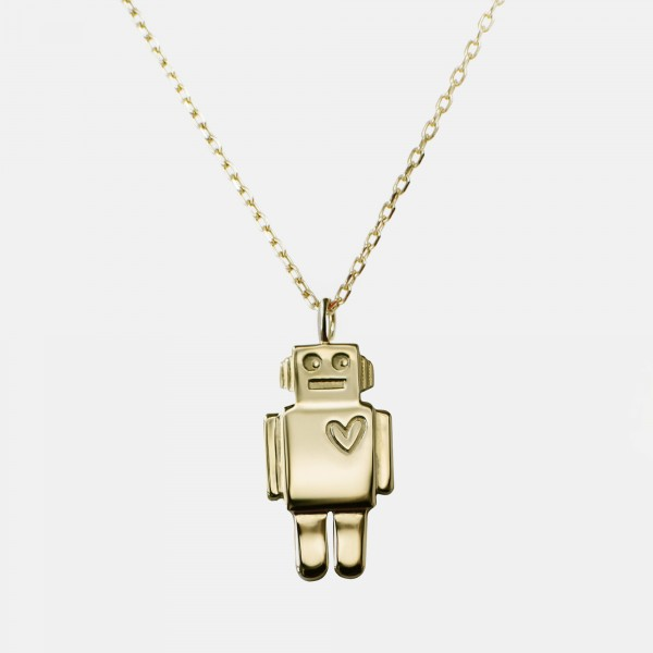 "Necklace ""Robot"" Gold"