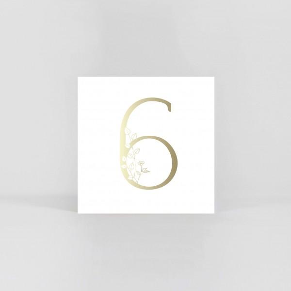 """JO & JUDY – Number Postcard """"6"""""""
