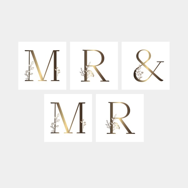 "Letter Postcards Set ""Mr & Mr"""