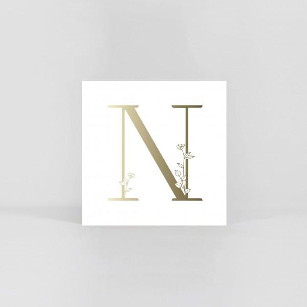 """JO & JUDY – Letter Postcard """"N"""""""