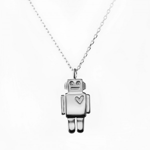 JO & JUDY – Robot Necklace Silver