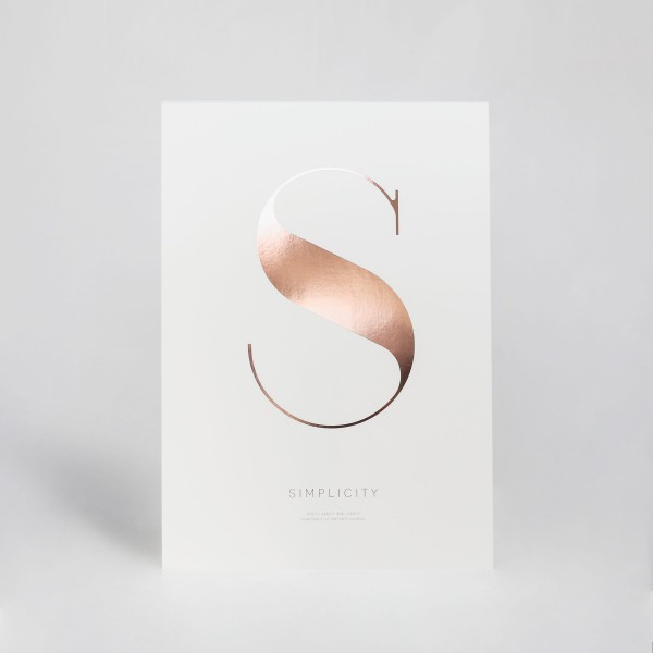 "JO & JUDY - Letter Print ""S"" - Rose Gold - Front"