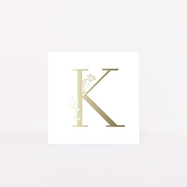 """Letter Postcard """"K"""""""