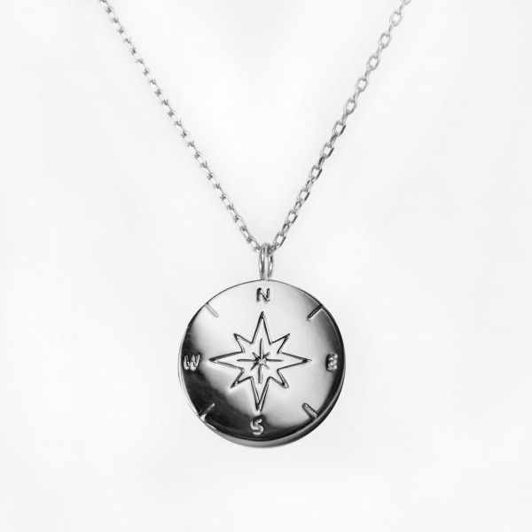 JO & JUDY – Compass Necklace Silver