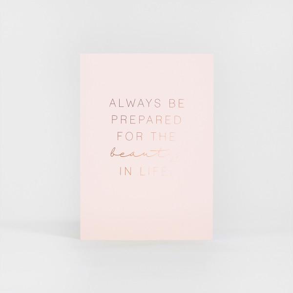 JO & JUDY - Print Beauty - Light Pink & Rose Gold - Front