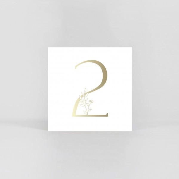 """JO & JUDY – Number Postcard """"2"""""""