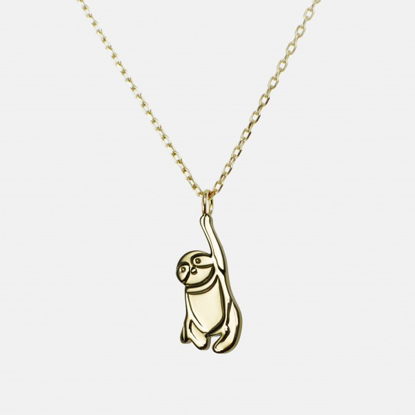 Sloth Necklace Gold