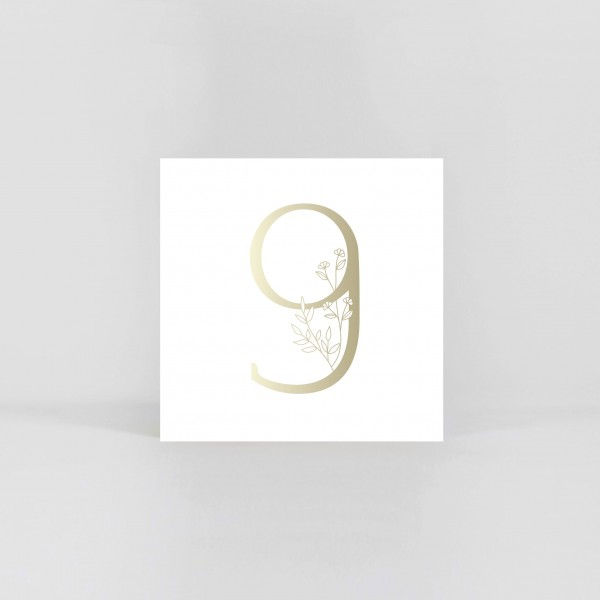 """JO & JUDY – Number Postcard """"9"""""""