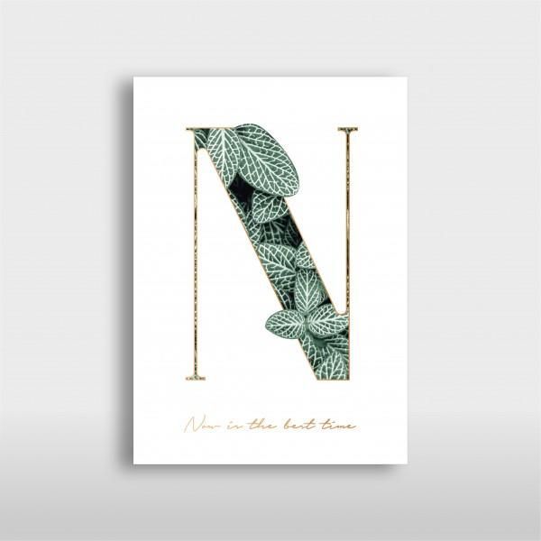 "JO & JUDY - Letter Print ""N"" - Green"