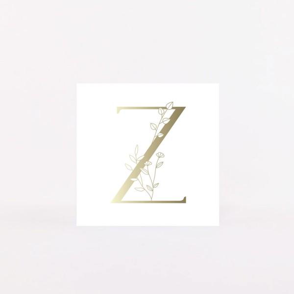 "Letter Postcard ""Z"""