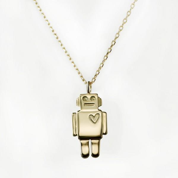 JO & JUDY – Robot Necklace Gold