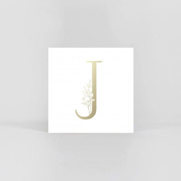 "JO & JUDY – Letter Postcard ""J"""