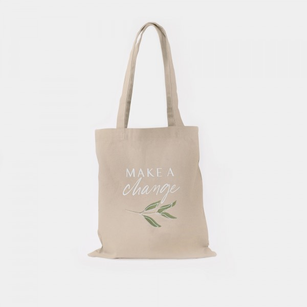 "Cotton Bag ""Make a change"""
