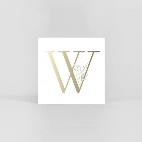 """JO & JUDY – Letter Postcard """"W"""""""
