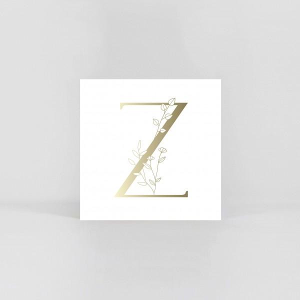 """JO & JUDY – Letter Postcard """"Z"""""""