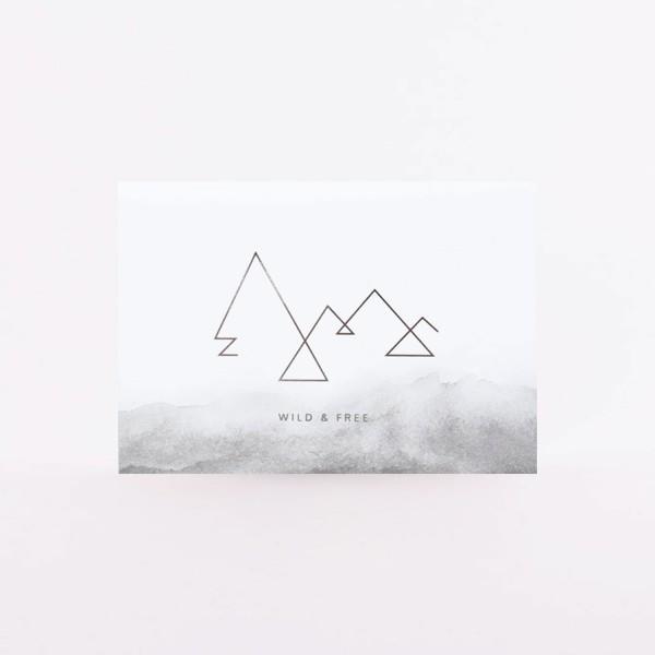 "Postcard ""Wild & Free"""