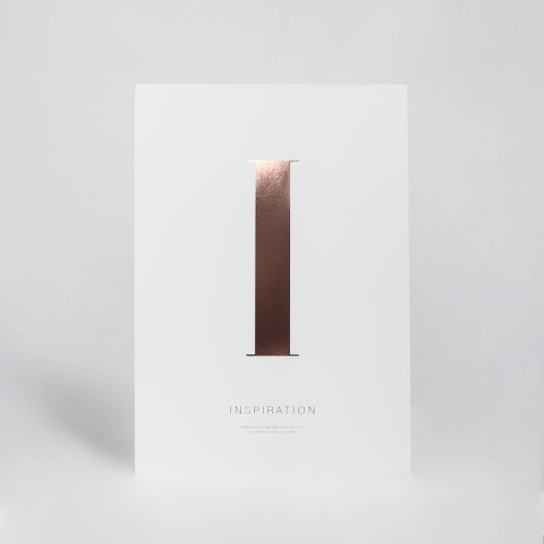 "JO & JUDY - Letter Print ""I"" - Rose Gold - Front View"
