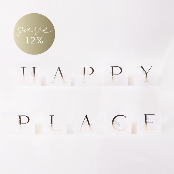 """Letter Postcards Set """"Happy Place"""""""