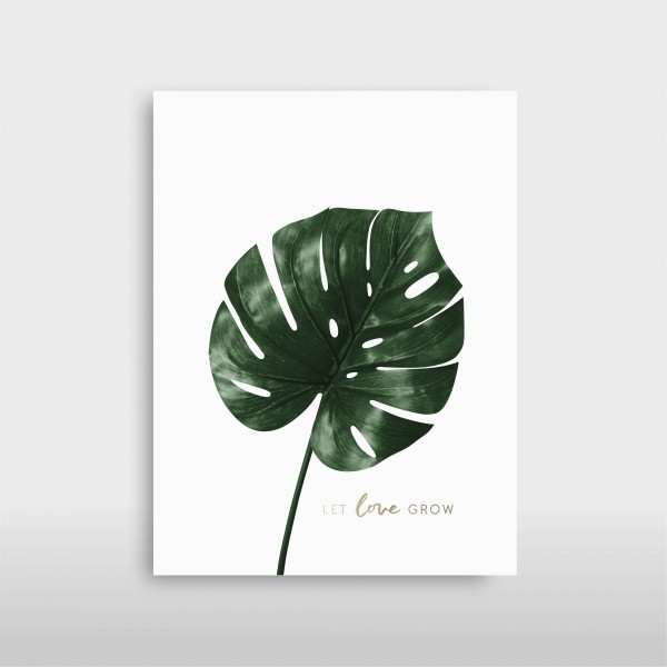 "JO & JUDY – Print ""Let Love Grow"" – Monstera – Green Collection"