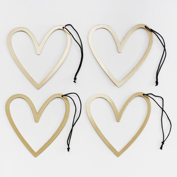 "Ornament Set of 4 ""Heart"""