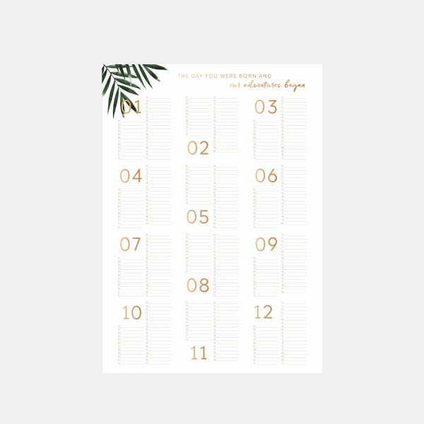 Weekly Favorite: Birthday Calendar 50x70cm