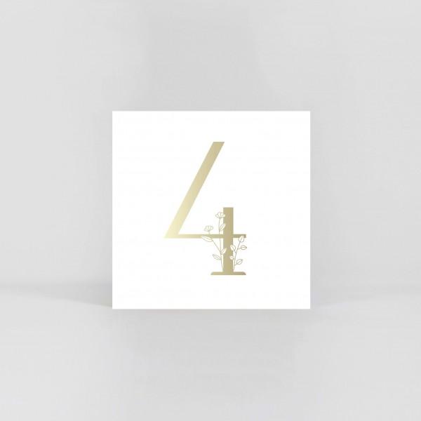 """JO & JUDY –Number Postcard """"4"""""""