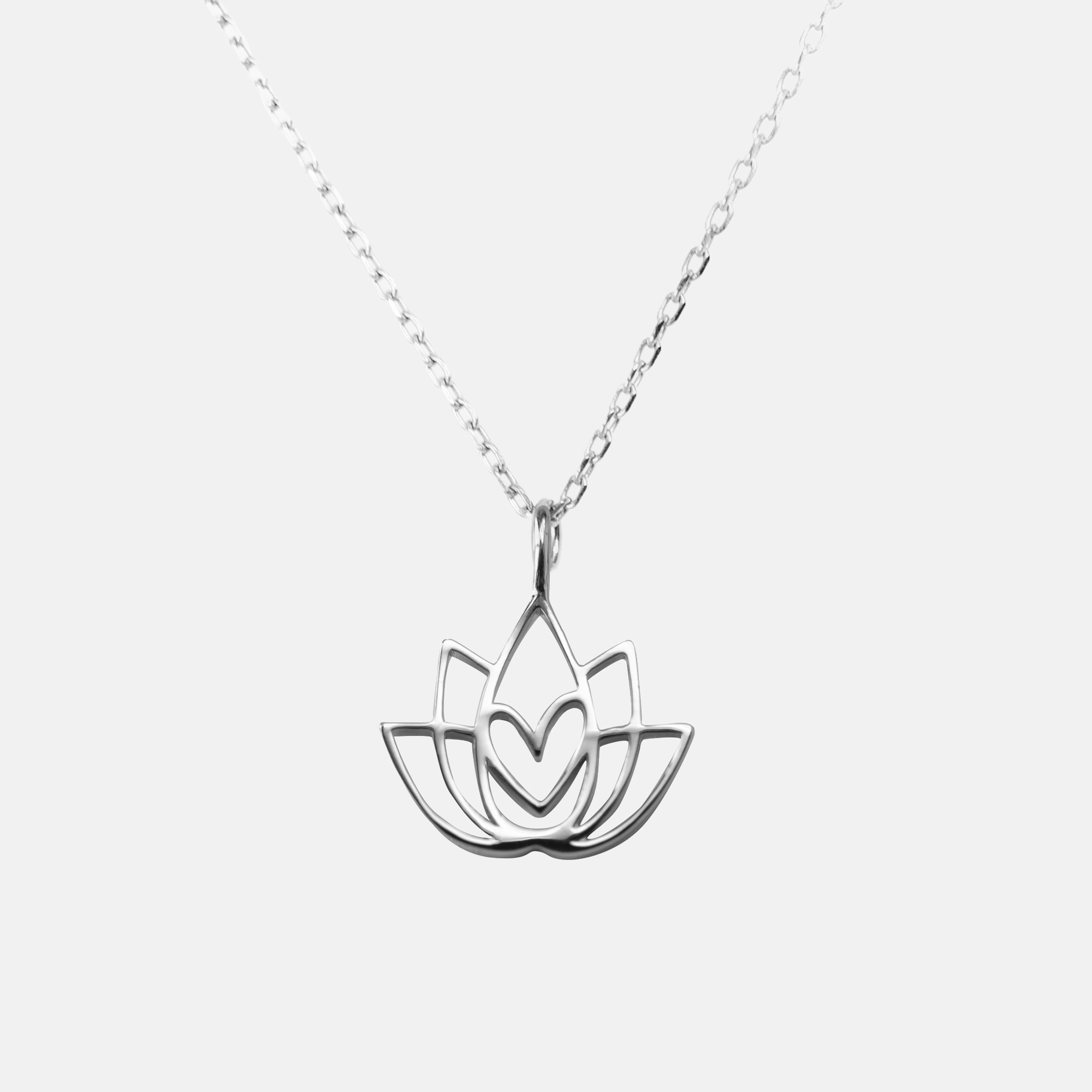 Lotus Flower Necklace Silver High Quality Statement Jewelry Jo