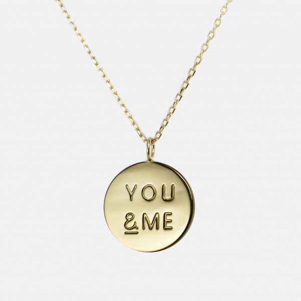 You & Me Necklace Gold