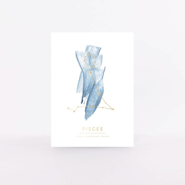"Star Sign Postcard ""Pisces"""