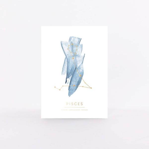 """Postcard """"Pisces"""""""