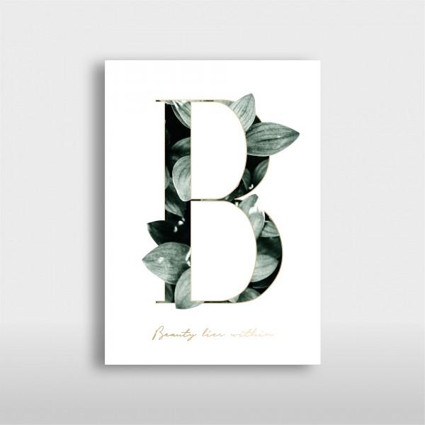 """Letter Print A3 """"B"""" Green – JO & JUDY"""