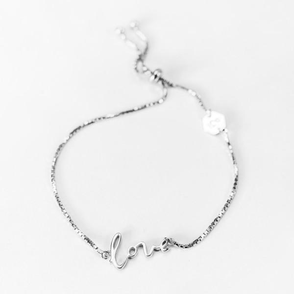 """Bracelet """"Love"""" Silver"""