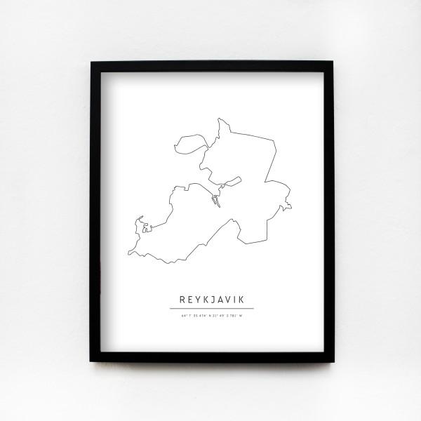 "JO & JUDY – Poster 40x50cm ""Reykjavik"""