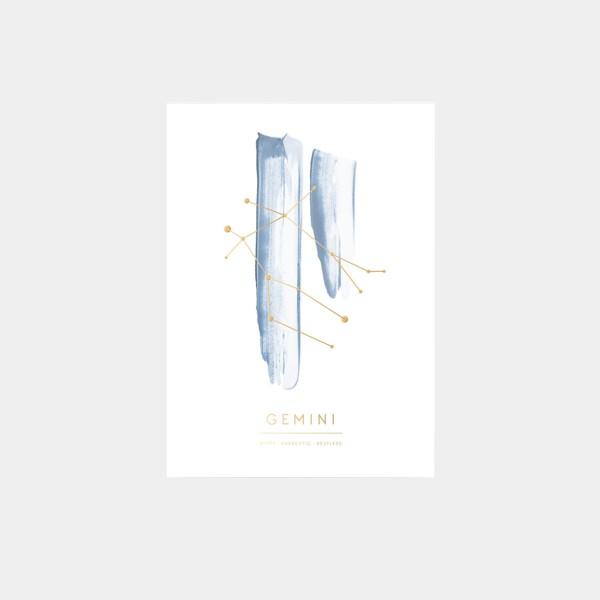 "Postcard ""Gemini"""